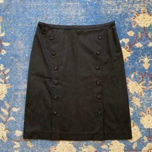Bluemarine Button Front Cotton Skirt 42